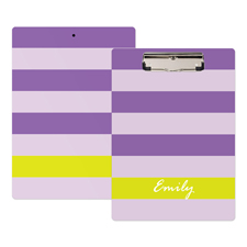 Streifen Purple Lila Personalisiertes Klemmbrett