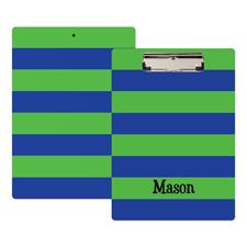 Streifen Grün Blau Personalisiertes Klemmbrett