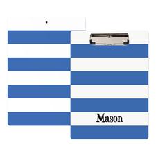 Streifen Blau Weiß Personalisiertes Klemmbrett