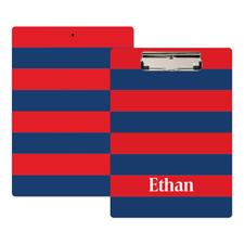 Streifen Rot Blau Personalisiertes Klemmbrett