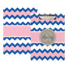 Wellen Blau und Pink Personalisiertes Klemmbrett