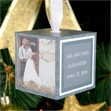 Hochzeit Heirat Fotowürfel selbst gestalten Weihnachten 5,1 cm Holzwürfel