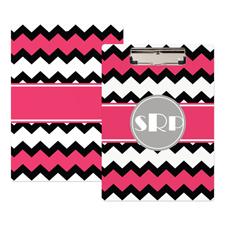 Wellen Schwarz und Pink Personalisiertes Klemmbrett