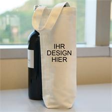Personalisierte Weinflaschentasche Baumwolle Selbst Gestalten