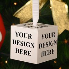 Holzwürfel selbst gestalten Weihnachtsschmuck 5,1 cm Fotowürfel