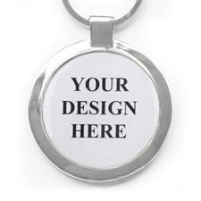 Metall Schlüsselbund Groß Rund Farbdruck Personalisieren