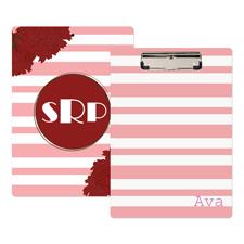 Streifen Pink Personalisiertes Klemmbrett