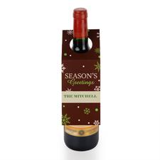 Feiertage Personalisierte Weinflasche Tag Sechs Stück