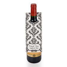 Damast Personalisierte Weinflasche Tag Sechs Stück
