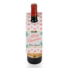 Schneeflocken Merry Christmas Weinflasche Personalisieren Kragen Tag