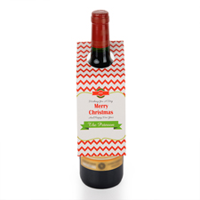 Alles Gute zu Weihnachten Weinflasche Personalisieren Kragen Tag