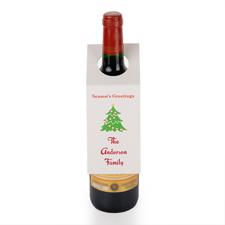 Schöne Feiertage Christbaum Weinflasche Personalisieren Kragen Tag