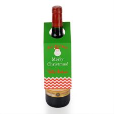 Weihnachtsmann Adventsstern Weinflasche Personalisieren Kragen Tag
