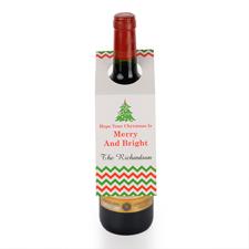 Weihnachtsbaum Weinflasche Personalisieren Kragen Tag