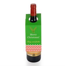 Rentier Weinflasche Personalisieren Kragen Tag