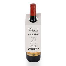 Mr. und Mrs. Weinflasche Personalisieren Kragen Tag