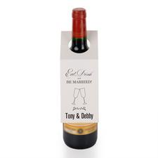 Essen Trinken Mann Frau Weinflasche Personalisieren Kragen Tag