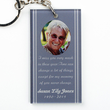 Erinnerungsstück Personalisierter Rechteckiger Schlüsselbund aus Acryl