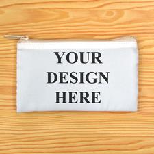Reißverschluss Orange Kosmetiktasche Personalisieren 8,9 x 15,2 cm Beide Seiten gleich