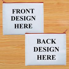 Kosmetiktasche Zwei Seiten Zwei Motive Roter Reißverschluss Personalisieren-20,3 x 25,4 cm