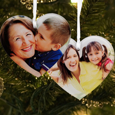 Acrylic Ornament Heart Shape Custom 2 Sides