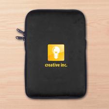 Schwarze iPad Mini Tasche Hochformat Einseitig Personalisieren 21,0 x 14,6 cm
