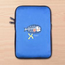 Blaue iPad Mini Tasche Hochformat Einseitig Personalisieren 21,0 x 14,6 cm