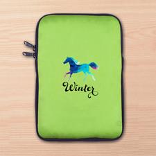 Grüne iPad Mini Tasche Hochformat Einseitig Personalisieren 21,0 x 14,6 cm