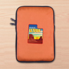 Orange iPad Mini Tasche Hochformat Einseitig Personalisieren 21,0 x 14,6 cm