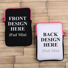 iPad Mini Tasche Hochformat Beidseitig Personalisieren Reißverschluss Hot Pink 21,0 x 14,6 cm