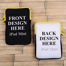 iPad Mini Tasche Hochformat Beidseitig Personalisieren Reißverschluss Gelb 21,0 x 14,6 cm