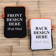 iPad Mini Tasche Hochformat Beidseitig Personalisieren Reißverschluss Orange 21,0 x 14,6 cm