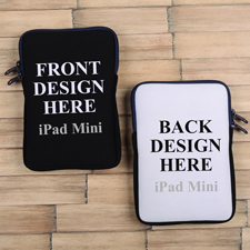 iPad Mini Tasche Hochformat Beidseitig Personalisieren Reißverschluss Navy 21,0 x 14,6 cm