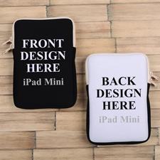 iPad Mini Tasche Hochformat Beidseitig Personalisieren Reißverschluss Beige 21,0 x 14,6 cm