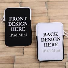 iPad Mini Tasche Hochformat Beidseitig Personalisieren Reißverschluss Weiß 21,0 x 14,6 cm