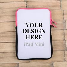 Hot Pinker Reißverschluss iPad Mini Hülle Hochformat Einseitig Personalisieren 21,0 x 14,6 cm