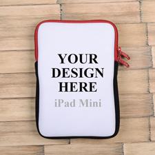 Roter Reißverschluss iPad Mini Hülle Hochformat Einseitig Personalisieren 21,0 x 14,6 cm
