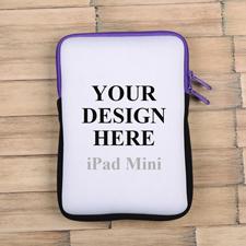 Lila Reißverschluss iPad Mini Hülle Hochformat Einseitig Personalisieren 21,0 x 14,6 cm