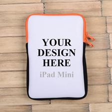 Oranger Reißverschluss iPad Mini Hülle Hochformat Einseitig Personalisieren 21,0 x 14,6 cm