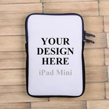 Dunkelblauer Reißverschluss iPad Mini Hülle Hochformat Einseitig Personalisieren 21,0 x 14,6 cm