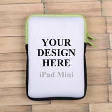 Grüner Reißverschluss iPad Mini Hülle Hochformat Einseitig Personalisieren 21,0 x 14,6 cm