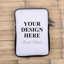 Grauer Reißverschluss iPad Mini Hülle Hochformat Einseitig Personalisieren 21,0 x 14,6 cm