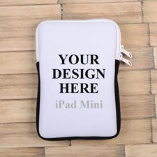 Weißer Reißverschluss iPad Mini Hülle Hochformat Einseitig Personalisieren 21,0 x 14,6 cm