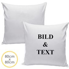 Personalisierter Kissenbezug Vorderseite selbstgestalten 80 cm x 80 cm