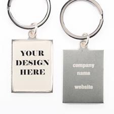Schlüsselanhänger 36x32mm Metall mit Text Beidseitig Personalisieren Werbegeschenk