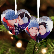 Heart Personalized Photo Acrylic Ornament Keepsake