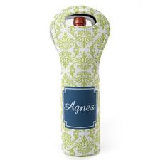 Vintage Grün Blau Weintasche aus Neopren Beide Seiten Personalisieren
