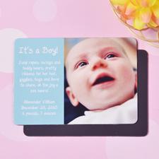 Es ist ein Junge Geburtsanzeige Fotomagnet