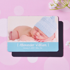 Mensch Junge Geburtsanzeige  Fotomagnet