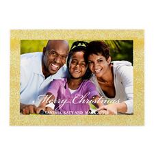 Weiße Weihnachten Gold Glitzer Personalisierte Foto Weihnachtskarte 127x178